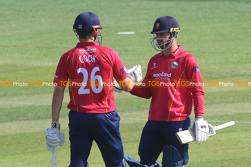 Ryan ten Doeschate of Essex (R) and Alastair Cook enjoy a century partnership for Essex during Essex Eagles vs Sussex Sharks, Royal London One-Day Cup Cricket at The Cloudfm County Ground on 10th May 2017
