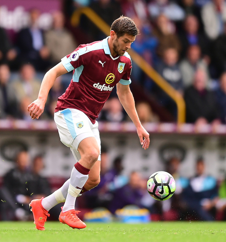 Burnley's Lukas Jutkiewicz<br /> <br /> Photographer Chris Vaughan/CameraSport<br /> <br /> Football - The Premier League - Burnley v Swansea City - Saturday 13th August 2016 - Turf Moor - Burnley<br /> <br /> World Copyright &copy; 2016 CameraSport. All rights reserved. 43 Linden Ave. Countesthorpe. Leicester. England. LE8 5PG - Tel: +44 (0) 116 277 4147 - admin@camerasport.com - www.camerasport.com