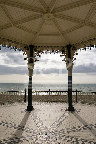 Brighton, Sussex, England. Victorian 'birdcage' bandstand, built in 1884, designed by Philip Lockwood.