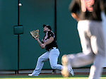 Sacramento River Cats' Shane Peterson makes a catch in centerfield during a minor league baseball game against the Reno Aces in Reno, Nev., on Wednesday, June 12, 2013. Sacramento won 9-7.<br /> Photo by Cathleen Allison