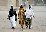 Women walking in Timbuktu, the northern Mali city captured by Islamist forces in 2012 and liberated by French and Malian soldiers in 2013.