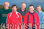 Des O'Halloran, Noel O'Connor, John O'Connor, Tony Costello and Aileen Clifford, Tralee Mountaineering club, pictured after they had completed their climb of Carrauntuohill on Friday morning as part of the clubs Four Peaks challenge........