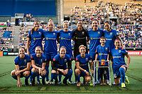 Seattle, WA - Sunday, September 24th, 2017: Seattle Reign FC starting eleven during a regular season National Women's Soccer League (NWSL) match between the Seattle Reign FC and FC Kansas City at Memorial Stadium.