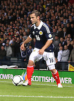 Shaun Maloney in the Scotland v Macedonia FIFA World Cup Qualifying match at Hampden Park, Glasgow on 11.9.12.