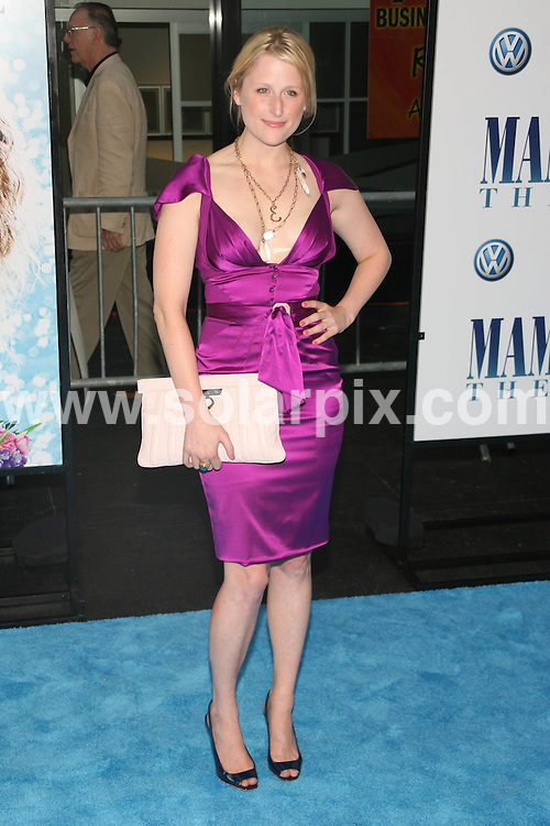 **ALL ROUND PICTURES FROM SOLARPIX.COM**.**SYNDICATION RIGHTS FOR UK, SPAIN, PORTUGAL, AUSTRALIA, S.AFRICA & DUBAI (U.A.E) ONLY**.The James Bond star Pierce Brosnan and Meryl Streep attended the Mamma Mia! World Premiere at the  Ziegfeld Theatre on 54th Street in New York in the  USA. .This pic:Mimi Gummer..JOB REF:6858-PHZ/Janet Mayer    DATE:16_07_08 .**MUST CREDIT SOLARPIX.COM OR DOUBLE FEE WILL BE CHARGED* *UNDER NO CIRCUMSTANCES IS THIS IMAGE TO BE REPRODUCED FOR ANY ONLINE EDITION WITHOUT PRIOR PERMISSION*