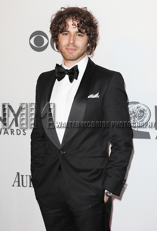 Josh Young pictured at the 66th Annual Tony Awards held at The Beacon Theatre in New York City , New York on June 10, 2012. © Walter McBride / WM Photography