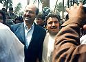 Iraq 2003.Berham Saleh visiting Khanakin the day after the liberation of the city  Irak 2003 Berham Saleh visitant Khanakin le lendemain de la liberation de la ville