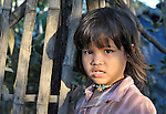 A girl in the Cambodian village of Bour.