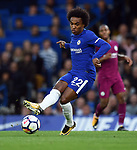 Willian of Chelsea during the premier league match at the Stamford Bridge stadium, London. Picture date 30th September 2017. Picture credit should read: Robin Parker/Sportimage