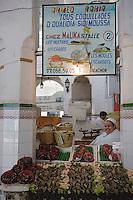 Afrique/Afrique du Nord/Maroc /Casablanca: le marché central boulevard Mohammed V détail d'un étal de coquillages