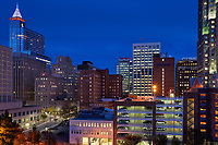 View of buildings in downtown Raleigh, North Carolina