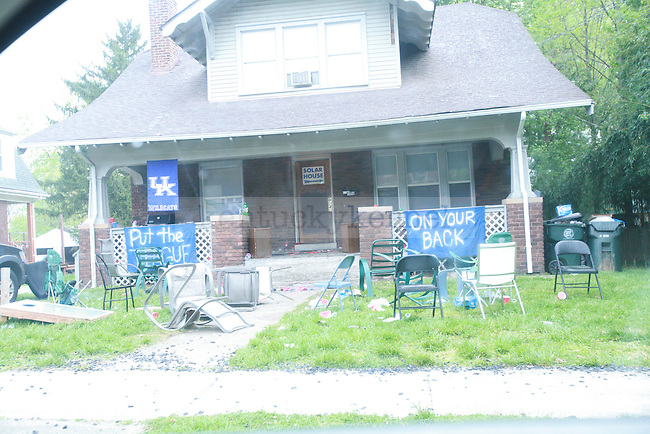 the celebration aftermath in Lexington, Ky. on 4/1/12. Photo by Quianna Lige | Staff