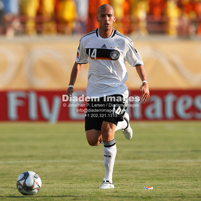 SUEZ, EGYPT - SEPTEMBER 29:  Dani Schahin of Germany in action during a FIFA U-20 World Cup soccer match against the Korea Republic September 29, 2009 in Suez, Egypt.  (Photograph by Jonathan P. Larsen)