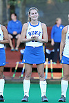 16 October 2015: Duke's Sarah Urdahl. The University of North Carolina Tar Heels hosted the Duke University Blue Devils at Francis E. Henry Stadium in Chapel Hill, North Carolina in a 2015 NCAA Division I Field Hockey match. UNC won the game 2-1.