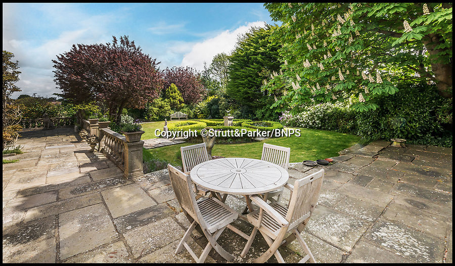 BNPS.co.uk (01202 558833)<br /> Pic: Strutt&Parker/BNPS<br /> <br /> Stunning back garden...<br /> <br /> Hello Sailor? - The perfect seaside residence for a lover of the sea.<br /> <br /> A luxury harbourside home with its own private dock in the back garden has launched on to the market - but you'll need a pirates treasure to afford it.<br /> <br /> £3.4million Wharf House is located in one of the country's best sailing communities in Emsworth, Hants, and is surrounded by water.<br /> <br /> From the front it has spectacular views over Chichester Harbour and at the back there is a mooring space for a large boat.