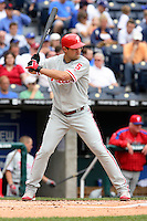 Philadelphia Phillies DH Pat Burrell in action at Kauffman Stadium in Kansas City, Missouri on June 10, 2007.  The Royals won 17-5.