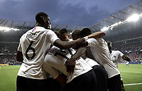 International friendly football match France vs Italy, Allianz Riviera, Nice, France, June 1, 2018. <br /> France's Samuel Umtiti celebrates after scoring with his teammates during the international friendly football match between France and Italy at the Allianz Riviera in Nice on June 1, 2018.<br /> UPDATE IMAGES PRESS/Isabella Bonotto