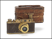 BNPS.co.uk (01202 558833)<br /> Picture: Bonhams/BNPS<br /> <br /> ****Please use full byline****<br /> <br /> Leica Luxis II with case.<br /> <br /> The only surviving model of an incredibly rare Leica camera could sell for a world record price of more than &pound;1.7 million.<br /> <br /> The Luxus II camera is gold plated and encased in fake lizard skin and was one of just four special edition versions made in 1932.<br /> <br /> The camera has the serial number 88840 and comes with a 50mm Elmar lens, which features a bell-push release.<br /> <br /> The model is now thought to be the rarest camera in existence as the whereabouts of the other three is unknown.<br /> <br /> It is also being sold with an orginal crocodile camera case, the first time one has ever come to light.<br /> <br /> Auctioneers expect the camera could fetch a seven figure sum when it goes under the hammer after a Leica 0 series sold for almost two million pounds last year.<br /> <br /> Leica, formerly known as Ernst Leitz GmbH, made their first camera in 1913 which was designed for landscape photography.<br /> <br /> The brand went on to become one of the most iconic camera manufacturers because of their small, compact models in contrast to the large versions available at the time.