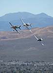 A Formula One heat race during the National Championship Air Races at the Reno-Stead Airfield Friday, Sept. 18, 2015.