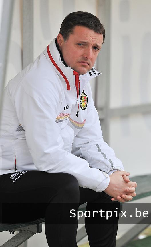 France U19 - Belgium U19 : Belgian coach  Ives Serneels (BEL) ..foto DAVID CATRY / Nikonpro.be