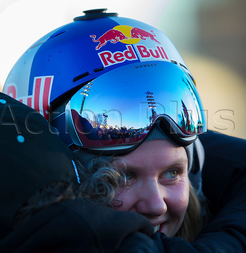 27.02.2016. Toyen, Big Jump Oslo, Norway.  Red Bull X Games Oslo 2016. Ladies Ski Big Air Final winner. Tiril Sjastad Christiansen of Norway in action during the Ladies Ski Big Air Final at the Red Bull X Games Oslo 2016 in Toyen Big Jump  Oslo, Norway.