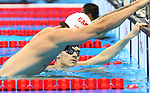 Rio de Janeiro-6/9/2016-Canadian swimmer Tyler Mrak trains at the Olympic Aquatics Stadium prior to the Paralympic Games in Rio. Photo Scott Grant/Canadian Paralympic Committee