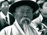 Koreaner in traditioneller Kleidung,Sunchon,  Korea 1977
