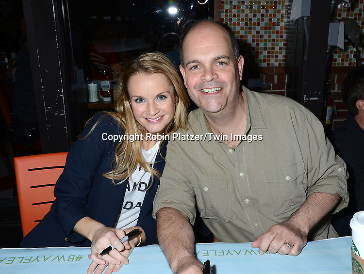 Kate Reinders and Brad Oscar attends the 29th Annual Broadway Flea Market &amp; Grand Auction benefitting Broadway Cares/ Equity Fights Aids  at Shubert Alley on September 27, 2015 in New York, New York, USA.<br /> <br /> photo by Robin Platzer/Twin Images<br />  <br /> phone number 212-935-0770