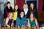 Killarney and Tralee ladies celebrating Womens Christmas in Scotts Hotel Killarney on Saturday night front row l-r; Catriona Murphy, Ciara Coakley and Linda Daly, back row: Aoife O'Hanlon, Jo O'Callaghan, Bridget Maddison, Geraldine Ryan