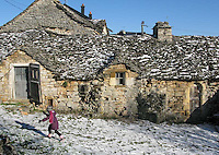 Village at Mountain in Lozere,France