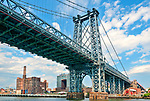 Williamsburg Bridge on the East River; suspension bridge built between 1896 and 1903