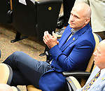 Scenes from the National Museum of Racing Hall of Fame ceremony (Terry Finley) on August 03, 2018 at the Fasig-Tipton Sales Pavilion in Saratoga Springs, New York. (Bob Mayberger/Eclipse Sportswire)