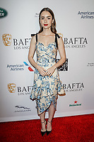05 January 2019 - Los Angeles, California - Lily Collins. the BAFTA Los Angeles Tea Party held at the Four Seasons Hotel Los Angeles. Photo Credit: AdMedia