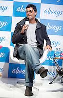 SAO PAULO, 12 DE JULHO DE 2012. O ator Eduardo Moscovis  durante bate papo promovido pela marca de absorvente Always na manhã desta quinta feira. FOTO: ADRIANA SPACA: BRAZIL PHOTO PRESS