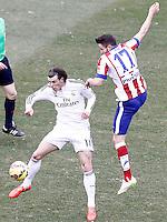 Atletico de Madrid's Saul Niguez (r) and Real Madrid's Garet Bale during La Liga match.February 7,2015. (ALTERPHOTOS/Acero) /NORTEphoto.com