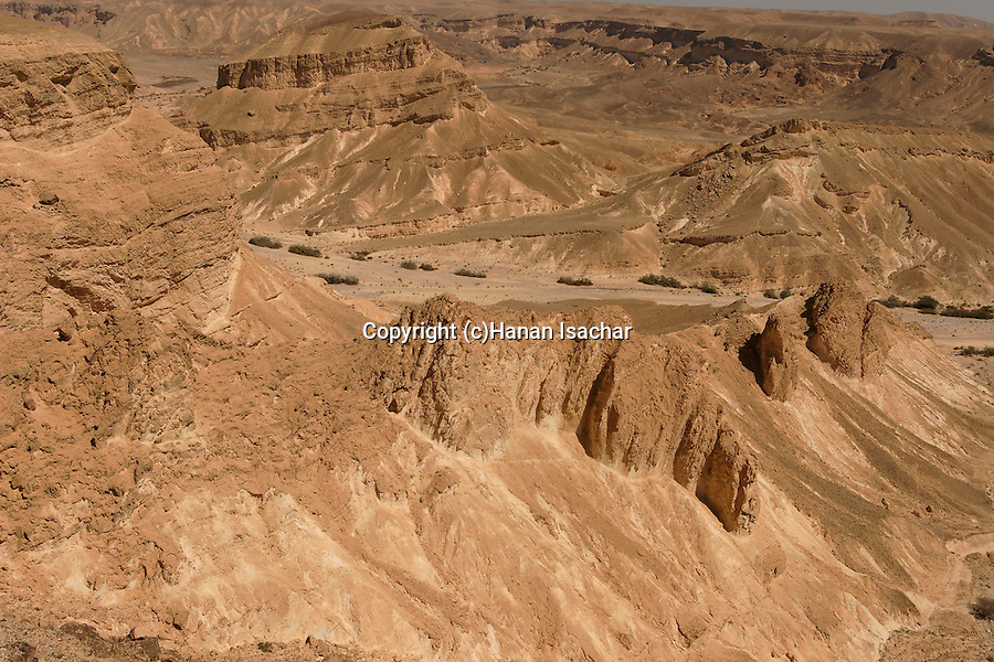 Israel, the Negev desert. A view of Wadi Paran