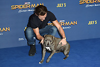 Tom Holland and his dog, Tessa<br /> at the &quot;Spider-Man:Homecoming&quot; photocall at the Ham Yard Hotel, London. <br /> <br /> <br /> &copy;Ash Knotek  D3281  15/06/2017