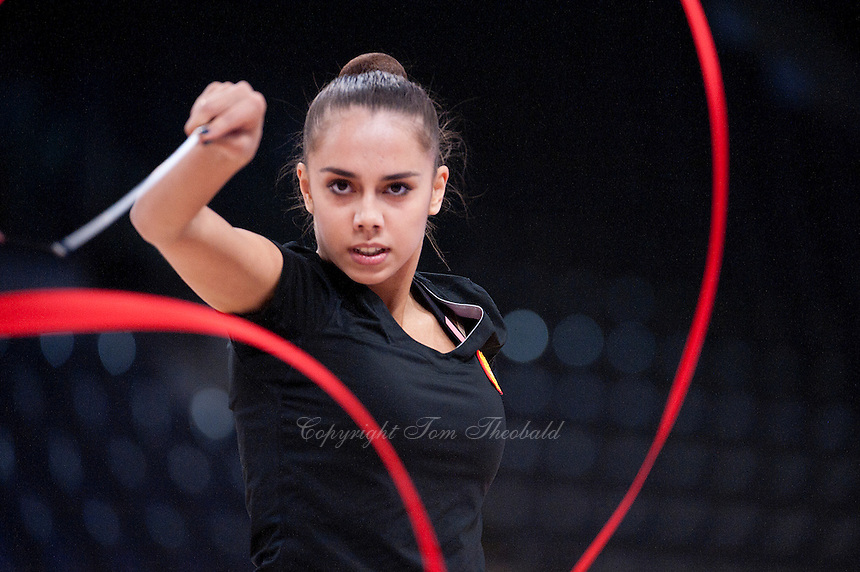 September 05, 2015 - Stuttgart, Germany - MARGARITA MAMUN of Russia performs in training at 2015 World Championships.