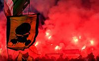 Celtic fans light flares and cheer on <br /> Roma 7-11-2019 Stadio Olimpico <br /> Football Europa League 2019/2020 <br /> SS Lazio - Celtic <br /> Photo Andrea Staccioli / Insidefoto