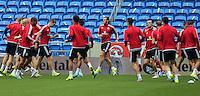 2015 09 05 Wales football training ahead of UEFA 2016 qualifier against Israel,Cardiff City Stadium