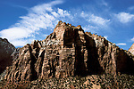 UT: Utah; Zion National Park; Checkerboard Mesa.Photo Copyright: Lee Foster, lee@fostertravel.com, www.fostertravel.com, (510) 549-2202.Image: utzion217