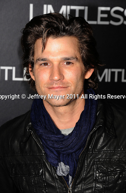 "HOLLYWOOD, CA - MARCH 03: Johnny Whitworth  attends the Los Angeles special screening of ""Limitless"" at ArcLight Cinemas Cinerama Dome on March 3, 2011 in Hollywood, California."