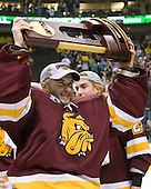 Kenny Reiter (Duluth - 35) - The University of Minnesota-Duluth Bulldogs celebrated their 2011 D1 National Championship win on Saturday, April 9, 2011, at the Xcel Energy Center in St. Paul, Minnesota.