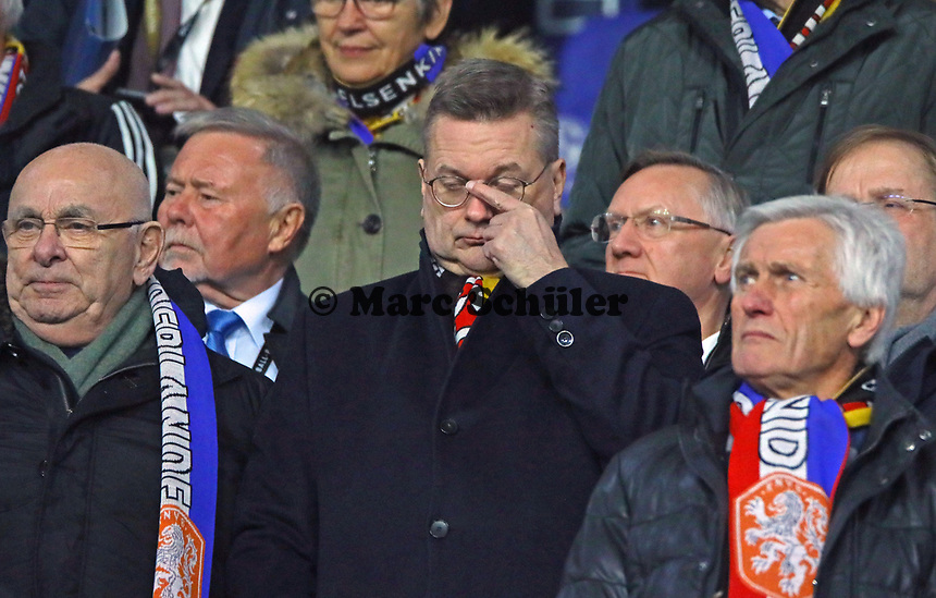 DFB Präsident Reinhard Grindel - 19.11.2018: Deutschland vs. Niederlande, 6. Spieltag UEFA Nations League Gruppe A, DISCLAIMER: DFB regulations prohibit any use of photographs as image sequences and/or quasi-video.
