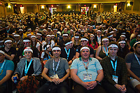 "AUSTIN, TX - MARCH 17: The audience wears headbands as they attends the closing night screening of Fox Searchlight Pictures ""Isle of Dogs"" at the 2018 SXSW Festival at the Paramount Theatre on March 17, 2018 in Austin, Texas. (Photo by Thao Nguyen/Fox Searchlight/PictureGroup)"