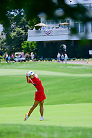 Jin Young Ko (KOR) watches her second shot on 1 during Sunday's final round of the 72nd U.S. Women's Open Championship, at Trump National Golf Club, Bedminster, New Jersey. 7/16/2017.<br /> Picture: Golffile | Ken Murray<br /> <br /> <br /> All photo usage must carry mandatory copyright credit (&copy; Golffile | Ken Murray)