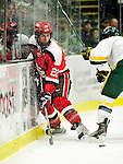 12 December 2009: St. Lawrence University Saints' forward Nick Pitsikoulis, a Junior from Montreal, Quebec, in action against the University of Vermont Catamounts at Gutterson Fieldhouse in Burlington, Vermont. The Catamounts shut out their former ECAC rival Saints 3-0. Mandatory Credit: Ed Wolfstein Photo