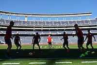 San Diego, CA - Saturday January 28, 2017: USMNT during a USMNT practice at Qualcomm Stadium.