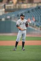 El Paso Chihuahuas starting pitcher Brett Kennedy (17) during the game against the Salt Lake Bees at Smith's Ballpark on July 5, 2018 in Salt Lake City, Utah. El Paso defeated Salt Lake 3-2. (Stephen Smith/Four Seam Images)