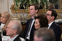 Senior Advisor Jared Kushner listens as United States President Donald J. Trump makes remarks, February 10, 2020 at the White House Business Session with governors at the White House in Washington, DC during the National Governor's Association meetings. Credit: Chris Kleponis / Pool via CNP/AdMedia